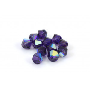 BICONE SWAROVSKI (5328) 4MM PURPLE VELVET AB