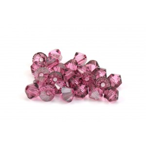 BICONE SWAROVSKI (5328) 4MM ROSE SATIN