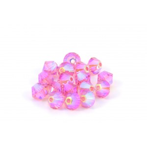 BICONE SWAROVSKI (5328) 4MM ROSE 2XAB