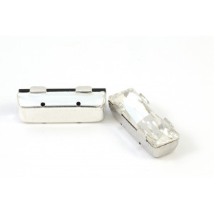 SWAROVSKI RECTANGLE 2 TROUS 21X8MM CRYSTAL CLAIR
