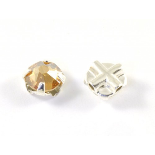 Rose montee Swarovski (53103) 6mm gold shadow