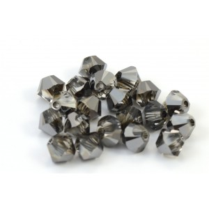 BICONE SWAROVSKI (5328) 3MM CRYSTAL SILVER NIGHT