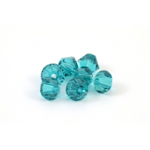 BICONE SWAROVSKI (5328) 6MM BLUE ZIRCON