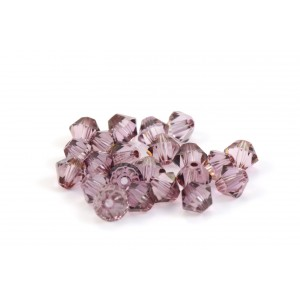 BICONE SWAROVSKI (5328) 4MM CRYSTAL ANTIQUE PINK