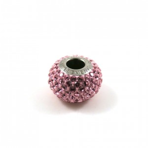 Bille Pavé Swarovski BeCharmed 14mm (80101), rose pâle