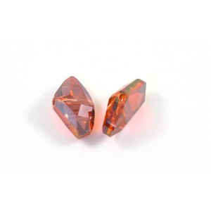 Bille galactic Swarovski (5556) 19x11mm red magma
