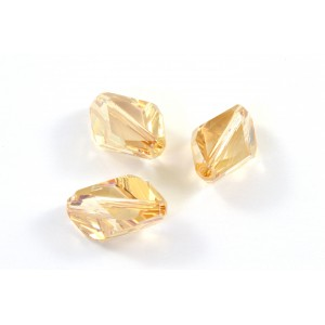 Bille cubist Swarovski (5650) 16X10mm golden shadow