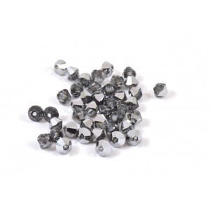 BICONE SWAROVSKI (5328) 4MM LIGHT CHROME