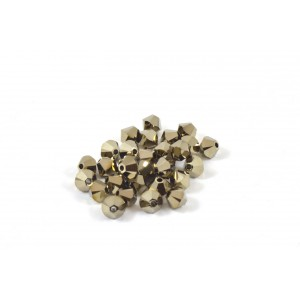 BICONE SWAROVSKI (5328) 4MM METALLIC LIGHT GOLD