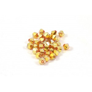BICONE SWAROVSKI (5328) 4MM METALLIC SUNSHINE 2XAB