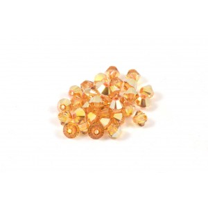 BICONE SWAROVSKI (5328) 4MM CRYSTAL METALLIC SUNSHINE