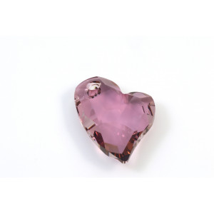 PENDENTIF SWAROVSKI (6261) COEUR DEVOTED 2 U 27X20MM, CRYSTAL ANTIQUE PINK