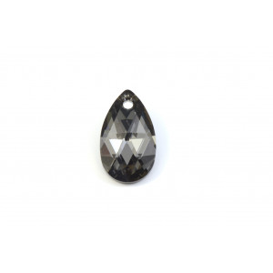 PENDENTIF SWAROVSKI PEAR (6106) 16MM CRISTAL SILVER NIGHT