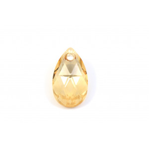PENDENTIF SWAROVSKI PEAR (6106) 16MM CRISTAL GOLD SHADOW