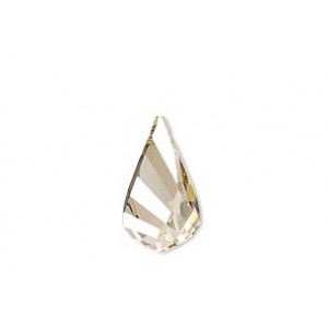 PENDENTIF SWAROVSKI HELIX (6020) 30MM CRYSTAL GOLD SHADOW