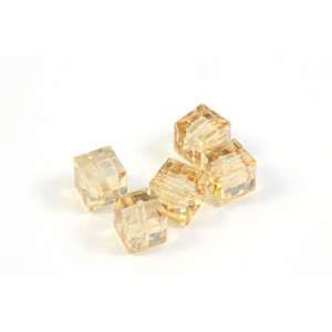 CUBE SWAROVSKI (5601) 4MM CRYSTAL GOLDEN SHADOW