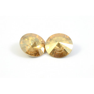 RIVOLI SWAROVSKI (1122) 12MM GOLD SHADOW