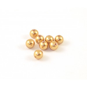 Swarovski perle (5810) ronde 4mm bright gold