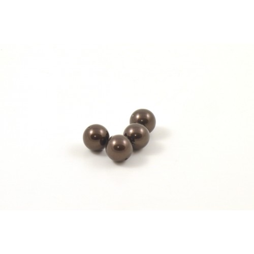 SWAROVSKI PERLES (5810) RONDE 8MM DEEP BROWN
