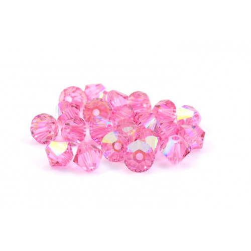 BICONE SWAROVSKI (5328) 6MM ROSE AB
