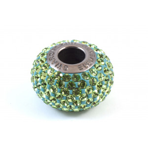 Bille Pavé Swarovski BeCharmed 14mm (80101), peridot
