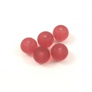*Billes acrylique ronde rouge transparent