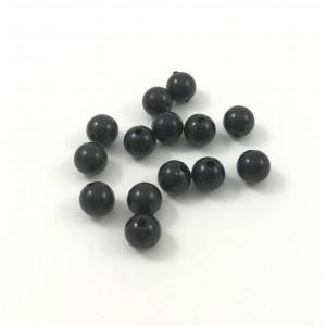 Billes de plastique opaque noir