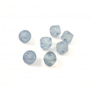 Billes bicone en résine avec Swarovski bleu*