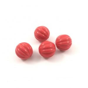 Billes rondes de plastique rouge