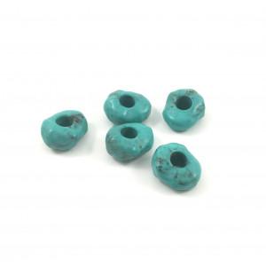 Billes de plastique rondelle turquoise