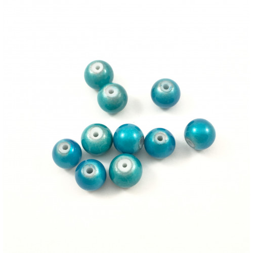 Billes acryliques ''wonder bead'' 8mm turquoise