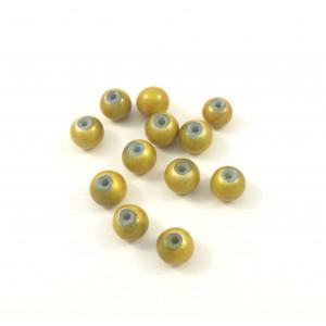Billes acryliques ''wonder bead'' 6mm jaune