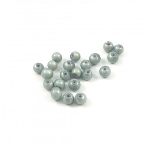 Billes acryliques ''wonder bead'' 4mm bleu pâle (paquet de 10)