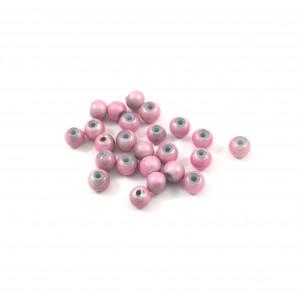 Billes acryliques ''wonder bead'' 4mm rose (paquet de 10)