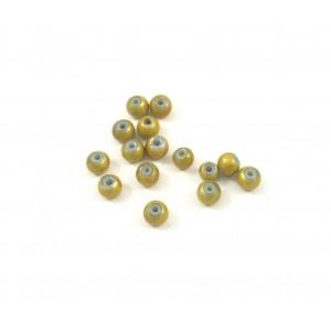Billes acryliques ''wonder bead'' 4mm jaune (paquet de 10)