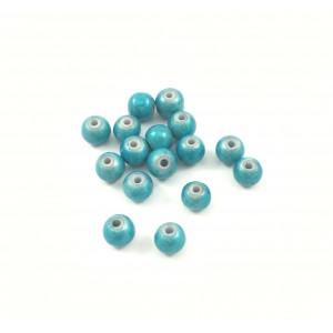 Billes acryliques ''wonder bead'' 4mm turquoise (paquet de 10)