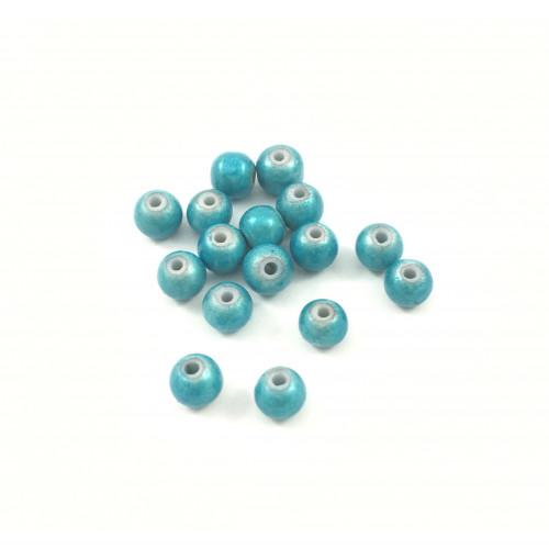 Billes acryliques ''wonder bead'' 6mm turquoise