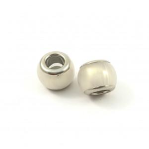 Billes acryliques rondelles blanches*