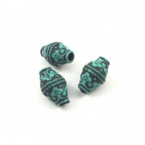 Billes cylindrique turquoise et noir