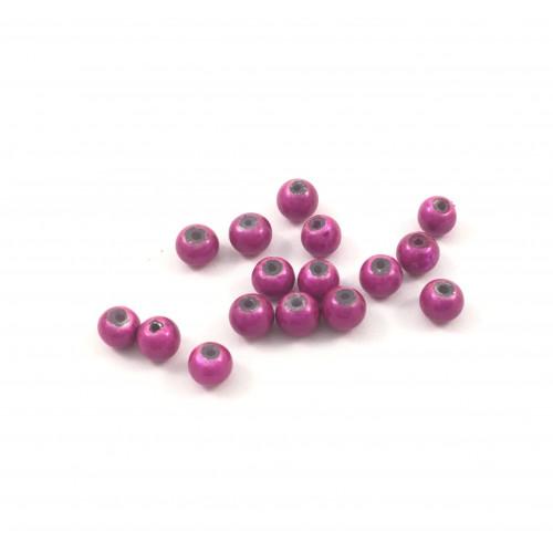 Billes acryliques ''wonder bead'' 4mm fuchsia (paquet de 10)