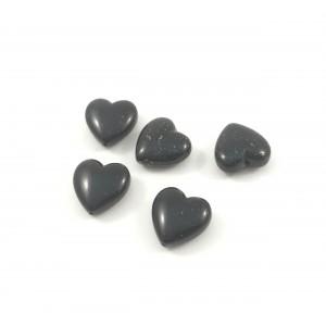 Billes acrylique coeur noir et or