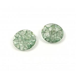 Billes acrylique ice flake vert