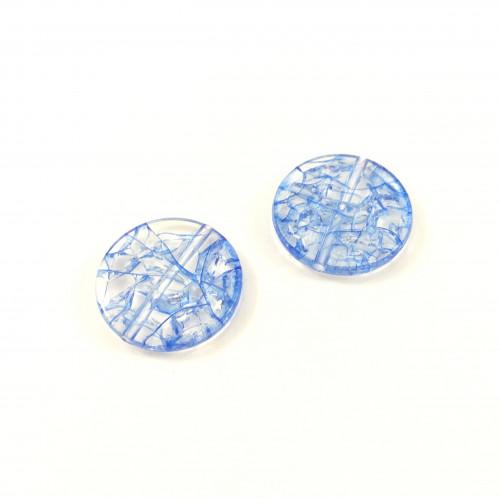 Billes acrylique ice flake bleu