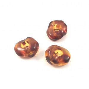 Billes de plastique rondelle brun