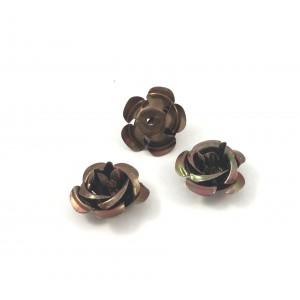 Billes d'aluminium fleur brune (paquet de 2)