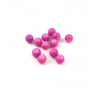 *Billes acrylique ronde rose