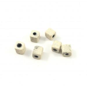 Billes acrylique carrée désert blanc et argent