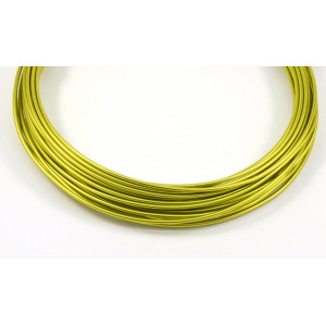 Aluminum wire 12 gauge green apple