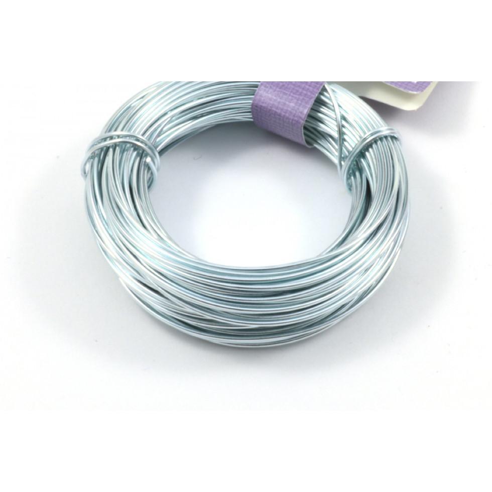Aluminum wire 18 gauge light blue - Perles et créations