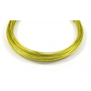 Aluminum wire 18 gauge green apple